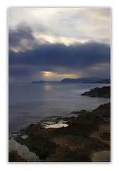 Amanecer!! (Vicensalamas) Tags: color canon mar amanecer rocas agua beach water clouds winter longexposure blue sea comunidadvalenciana
