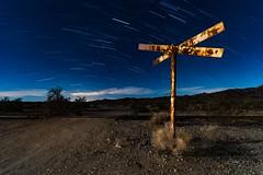 Railroad crossing.  2018 (Aztravelgrl (Forgotten Places Photography)) Tags: desertcenter eagleminerailroad startrails usa abandon lightpainting longexposure lowlight nightphotography railroad