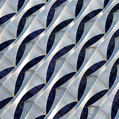 Diplomatic dimensions (Arni J.M.) Tags: architecture building diplomaticdimensions geometry facade veil diagonal embassy usa diplomacy kierantimberlake ethylenetetrafluoroethylene transparentcrystallinecube nineelms battersea thames london england uk