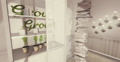 Plants, books and lights (Laura a surprise package in the kink department) Tags: keke spring flowers plants books uber fameshed vespertine