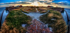 The Fortress' Edge (Matt Straite Photography) Tags: history historical nationalpark national fort military walls brick wind landscape natre sun sunset dusk fast water ocean beach moat color couds sky canon lighthouse island key cuba florida gulf