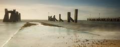 Essex Shoeburyness (daveknight1946) Tags: essex shoeburyness gunnerspark longexposure pier seaweed greatphotographers sundaylights water southend