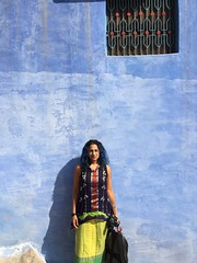 blue wall me, portrait (photo by Josh) (olive witch) Tags: 2018 abeerhoque blue day india jan18 january jodhpur me outdoors rajasthan