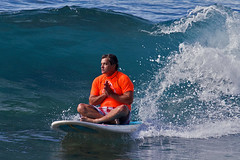 Surf God (RicoLeffanta) Tags: surf surfer surfing board surfboard longboard ocean sport prayer praying thanful god wave makaha oahu hawaii rico leffanta