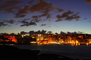St Julian's by night, Malta