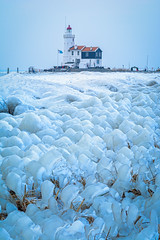 Ice Ice Baby... (martijnvdnat) Tags: blue cold coldtemperature everypixel ijsselmeer lighthouse netherlands nopeople winter arctic coastline freezing frost frozen ice icebreakers landscape marken nature outdoors scenics sea sky snow water weather white noordholland nederland