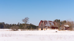 No opinion (Wicked Dark Photography) Tags: landscape wisconsin barn farm nature rural rustic snow winter woods