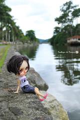 Sophie in the city of Paraty, Rio de Janeiro, Brazil