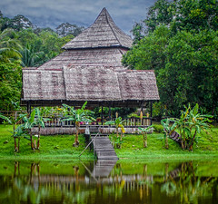 Indigenous Architecture East Malaysia (FotoGrazio) Tags: asian eastmalaysia kuching malaysia malaysian seasia sarawak waynegrazio waynesgrazio worldphotographer architecture art artofphotography composition cultural fotograzio green house indigenous jungle manmade native naturalmaterials reflection scenic shelter tribal