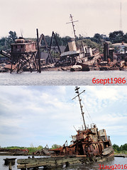 30 Years Later (95wombat) Tags: old abandoned rotted decayed derelict rusty decrepit marinegraveyard arthurkill statenisland newyork