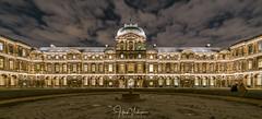 Louvre Paris, France (Henk Verheyen) Tags: parijs paris autumn city herfst stad îledefrance frankrijk fr louvre night nightphoto avond avondennachtfotografie binnenplein quadrangle symmetrie symmetry