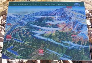 Pikes Peak Map Marker (El Paso County, Colorado)