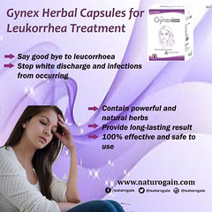 Gynex Herbal Capsules for Leukorrhea Treatment (NaturoGain) Tags: leucorrhoea leucorrhea menopause infection vaginaldischarge whitedischarge vaginalinfection vaginaldisorder womenhealth femalehealth gynex