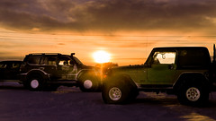 Jeep romance (Torfi Ómarsson) Tags: jeep sunset snow highland offroad fun nature iceland adventure