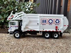 First Gear USA Hauling Refuse Truck. (Inner Blue Fire) Tags: firstgear usahaulingrecycling mackmr wittke recycle refuse garbagetruck trashtruck sanitation