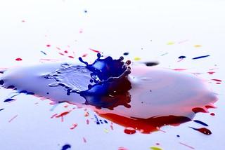 Blue Splash in Red