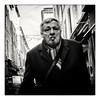 Street Portrait (Hugedé Loïc) Tags: street man cigare walker black white