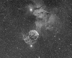 IC443 in Ha Narrowband from Durham, NC. (stevenchristensen2013) Tags: ic443 jellyfishnebula nebula jellyfish narrowband astrophotography supernova astrometrydotnet:id=nova2439550 astrometrydotnet:status=solved