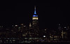 The Empire State Building is lit white and blue in honor of the 30th anniversary of Phantom of the Opera. (apardavila) Tags: esb empirestatebuilding hoboken manhattan nyc newyorkcity skyline skyscraper