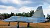 CF/RCAF Northrop/Canadair CF-5A Freedom Fighter, c1970 - Canadian Forces Base Borden, Ontario. (edk7) Tags: olympuspenliteepl5 edk7 2016 canada ontario simcoecounty canadianforcesbaseborden cfbborden canadianforcessupporttraininggroupcfstg basebordenmilitarymuseum openairmuseum royalcanadianairforce rcaf canadianforces cf canadaircf5afreedomfighter canadaircf116a sn912b c1970 northropf5freedomfighter fighterbomber fighter bomber lightattackstrike reconnaissance military weapon machine mechanical engineering supersonic aircraft plane airplane jet aviation aeronautics twinengine generalelectricorendaj8515singleshaftturbojet2925lbfdry4300lbfafterburning 20mmpontiacm39a2singlebarreledrevolvercannon280rounds