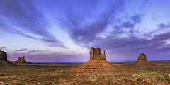 02469376306-97-Monunment Valley at Sunset-1-HDR (Jim There's things half in shadow and in light) Tags: 2018 arazona canon5dmarkiv february monumentvalley navajo utah desert earth nature park sky statepark sunset color sigma24105mmf4dg