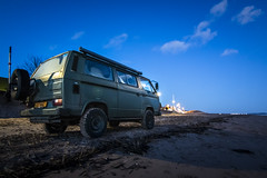 (Chris B70D) Tags: vw volkswagen t25 4x4 allroad syncro parked beach off road 4 wheel drive brick matt paint nato green evening night photography blue sky winter clear campervan camper van explore exploring retro classic daily sunset dusk moon light moonlit scotland broughty ferry dundee east coast landscape river tay