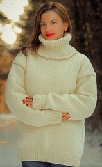 Heavy winter knit turtleneck ski jumper (Mytwist) Tags: ivory hand knitted wool sweater soft cream handmade white jumper supertanya outfit knitwear love femdom retro sex sweatergirl style fashion tn tneck sexy heavy knit aranstyle girl