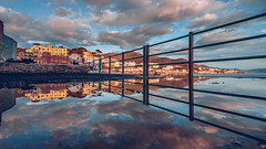 Riflessioni di febbraio (pt.2) (FButzi) Tags: genova genoa liguria italia italy vernazzola ringhiera railing water clouds sky reflection