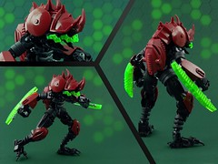 Beetle - Plague Mech: Theta (Anthony (The Secret Walrus) Wilson) Tags: lego moc creature robot bug beetle insect plague mech afol futuristic scifi red green