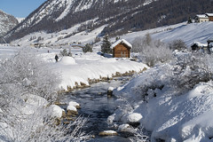 Lo Spöl dopo Luigion (quanuaua) Tags: ifttt 500px winter cold snow mountain alps alpine winterscape range ski resort italy livigno village spöl river