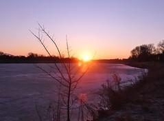 this morning in my city (BrigitteE1) Tags: sonnenaufgang sunrise bremen deutschland norddeutschland germany northgermany winter see lake eis ice
