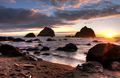 Sunset, Redwood National Park (klauslang99) Tags: klaus lang redwood national park california beach rocks sunset clouds