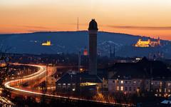 Sunset in Würzburg (mattrkeyworth) Tags: sunset sonnenuntergang würzburg ilce7r3 sonya7riii käppele festung castle lightstream traffic feierabend batis135