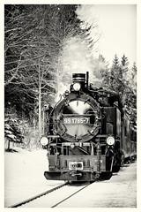 Fichtelbergbahn 99 1785-7 (rwfoto_de) Tags: mittelgebirge schnee deutschland bahn winter landschaften europa erzgebirge fahrzeuge eisenbahn sepia sachsen pentaxdastar5013528 fichtelbergbahn dampflok sw jahreszeiten lokomotive