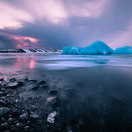 Sunset at the Glacier Lagoon - Iceland - Seascape photography thumbnail