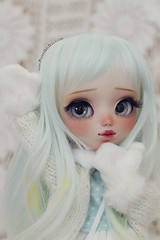 Little Yumi *tomorrow* (-Poison Girl-) Tags: pullip pullips doll dolls custom customs yumi for adoption fa poisongirlsdolls poisongirldolls poison girl natural skin skintone white eyes eyechips realistic handmade handpainted repaint repainted paint blue mint turquoise hair long wavy waves wig freckles pecas nose carving carved mouth lips sweet cute makeup faceup junplanning jun planning groove grooveinc 2018 february febrero