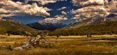 Moraine Park, Rocky Mountain National Park (HarrySchue) Tags: nationalparks rockymtnationalpark landscape nikon nature mountains snowcappedpeaks meadow clouds rockymountains