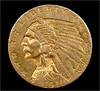 Lighting test: 1911 quarter eagle, a lucky find (Small Creatures) Tags: coin gold quartereagle d60 found gardening nikond60 nikon105mmf25 ais lens lensreversing lensstacking gefitec macro closeup homemade diffuser popupflash uac2000 manualfocus