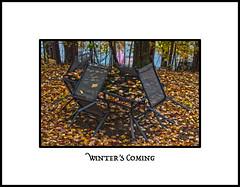 Winter's Coming (KVSE) Tags: fall seasons autumn leaves winter cottage lake canoe hdr winterscoming