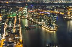 Medienhafen vom Rheinturm Düsseldorf aus 166m (mx5janis) Tags: düsseldorf rhein medienhafen gehy bauten zollhof hyatt hotel hafen schiffe boote polfilter