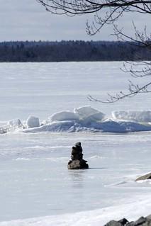 Rocks on a frozen lake _MG_3984