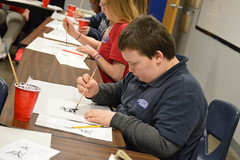 """6th Grade Social Studies Learning The Ancient Art of Calligraphy • <a style=""""font-size:0.8em;"""" href=""""http://www.flickr.com/photos/137360560@N02/40517620462/"""" target=""""_blank"""">View on Flickr</a>"""