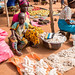At the market - manioc / cassava