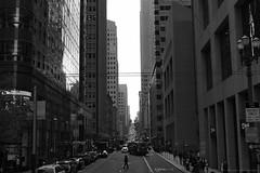 Evening at San Francisco (elianek) Tags: sanfrancisco california usa eua estadosunidos unitedstates america streets urban blackandwhite pretoebranco monocromatico city evening metropolis metropole