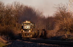 Last Man Standing (Jackson Vandeventer) Tags: ns sd60 ns6658 k5la horn 61k pigiron rare emd decatur railroad railfanning railfan railroads rail railway rails rural train track tracks trains illinois il outdoor photography power locomotive freight dusk illinoisdivision norfolksouthern manifest mixedfreight