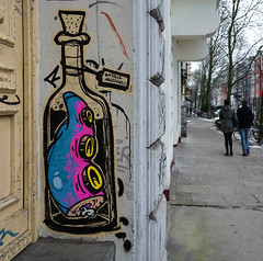 HH-Wheatpaste 3601 (cmdpirx) Tags: hamburg germany reclaim your city urban street art streetart artist kuenstler graffiti aerosol spray can paint piece painting drawing colour color farbe spraydose dose marker stift kreide chalk stencil schablone wall wand nikon d7100 paper pappe paste up pastup pastie wheatepaste wheatpaste pasted glue kleister kleber cement cutout