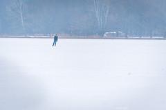 Lonely skater (Peter Goll thx for +11.000.000 views) Tags: 2018 dechsendorf natur winter erlangen germany weiher pond lake schnee snow ice eis eisläufer skater schlittschuh schlittschuhläufer
