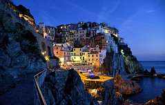 manarola colors (poludziber1) Tags: street streetphotography skyline sky sea sunset city colorful cityscape color colorfull clouds blue manarola light landscap liguria italia italy
