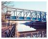 Bridgewater Canal Aqueduct crossing over the Manchester Ship Canal, Barton, Salford (Gracieben) Tags: film kodak ektar100 mamiya7ii mediumformat 6x7 nikoncoolscan9000ed manchestershipcanal bridgewatercanal barton salford
