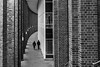 side by side /  sweet curve of the city (Özgür Gürgey) Tags: 2018 20mm alsterfleet bw d750 hamburg nikon voigtländer architecture cropped curves leading lines people repetition street vanishingpoint